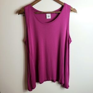 Cabi Sleeveless Asymmetrical Hem Top